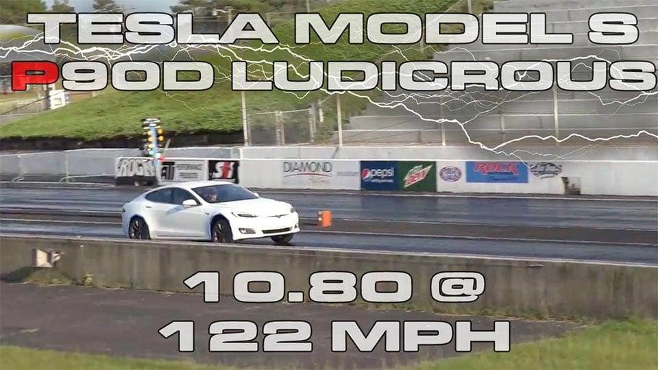 Tesla Model S P90D Destroys Quarter Mile in 10.8 Seconds