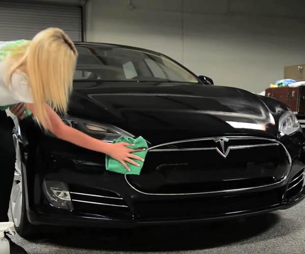 Tesla Testing Green Car Wash Service at Superchargers