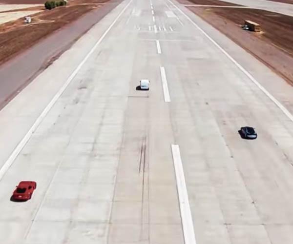 Electric Van Drag Races BMW i8 and Dodge Viper