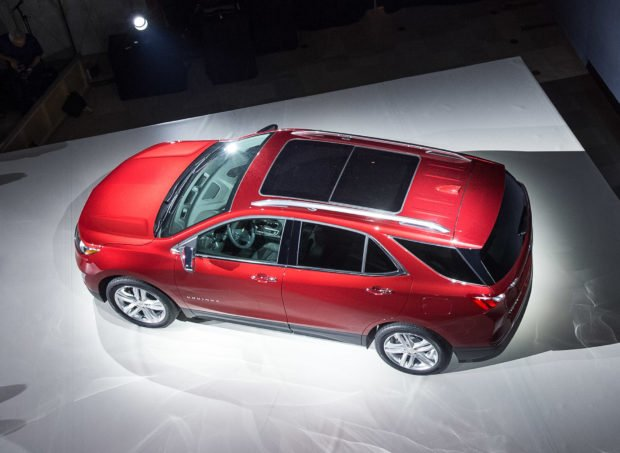 Chevrolet introduces the 2018 Equinox compact SUV Thursday, September 22, 2016 in Chicago, Illinois. The Equinox's new exterior design is influenced by extensive aero development in the wind tunnel. A range of three turbocharged engines – including the segment's first turbo-diesel in North America – provide performance, efficiency and capability options. The 2018 Equinox goes on sale in the first quarter of 2017. (Photo by Brian Kersey for Chevrolet)