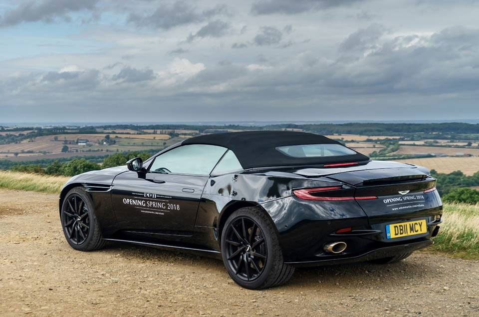 Aston Martin DB11 Volante Teased Far Ahead of 2018 Launch