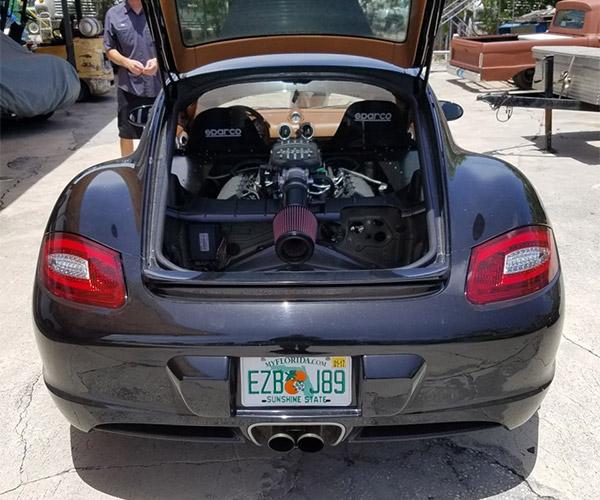 Porsche Cayman Gets a Coyote Heart