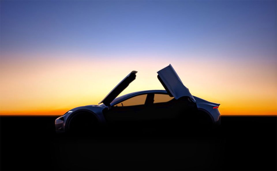 Fisker Teases Car with Butterfly Doors