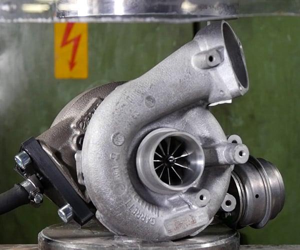 Turbocharger vs. Hydraulic Press