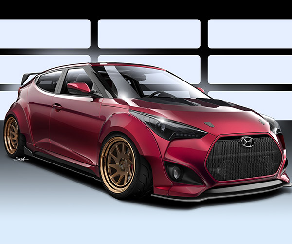 Gurnade Veloster Concept Heads to SEMA, Ready for the Track