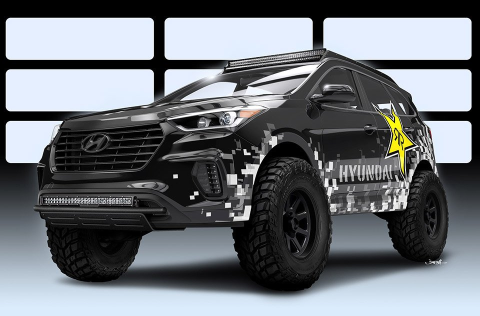 Hyundai Rockstar Santa Fe Concept Is on the Juice
