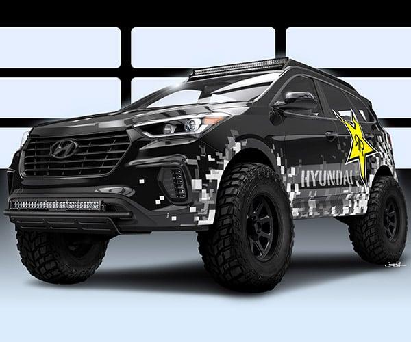 Hyundai Rockstar Santa Fe Concept Is on the Juice