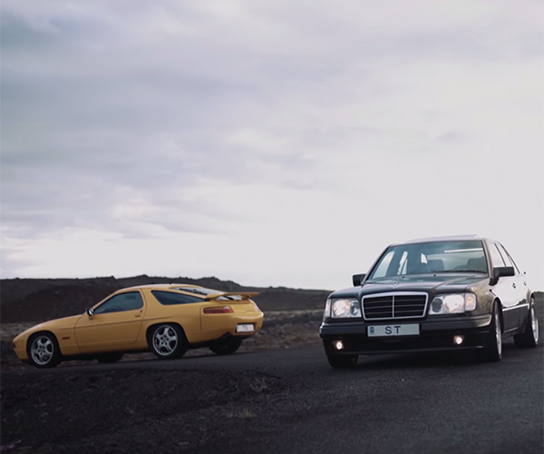 A V8 928 and E500 Look Ice Cold in Iceland