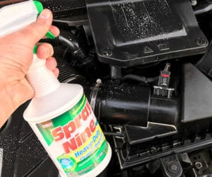 Spray Nine Tackles Tough Engine Grime