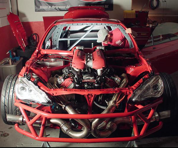 Ferrari-powered Toyota GT-4586 Fires Up