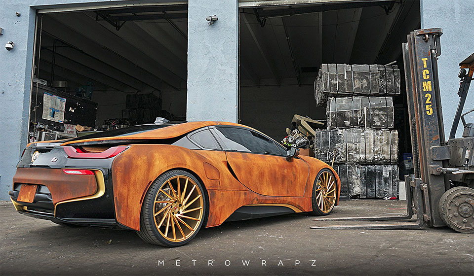 This Wrapped Bmw I8 Looks Like An Old Rustbucket 95 Octane