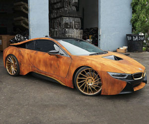 This Wrapped BMW i8 Looks Like an Old Rustbucket