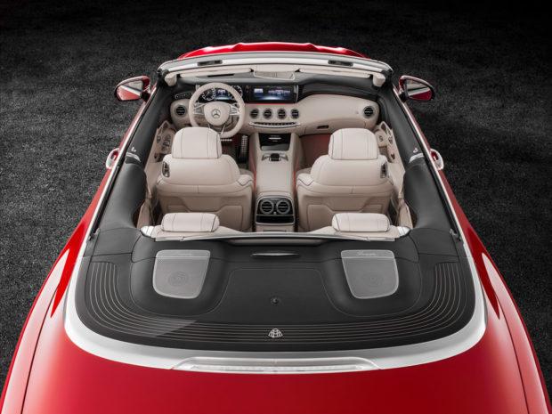 Mercedes-Maybach S 650 Cabriolet Studioaufnahme, offenes Verdeck; Kraftstoffverbrauch kombiniert: 12,0 l/100 km; CO2-Emissionen kombiniert: 272 g/km // Mercedes-Maybach S 650 Cabriolet studio shot, open soft top; Fuel consumption combined: 12,0 l/100 km; Combined CO2 emissions: 272 g/km