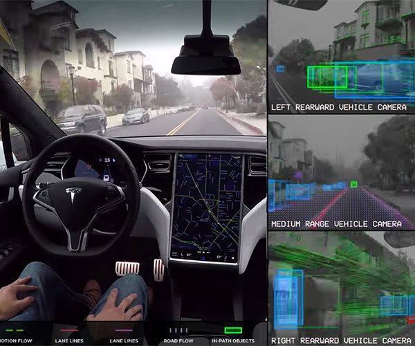 How Tesla's Autonomous Cars See the World