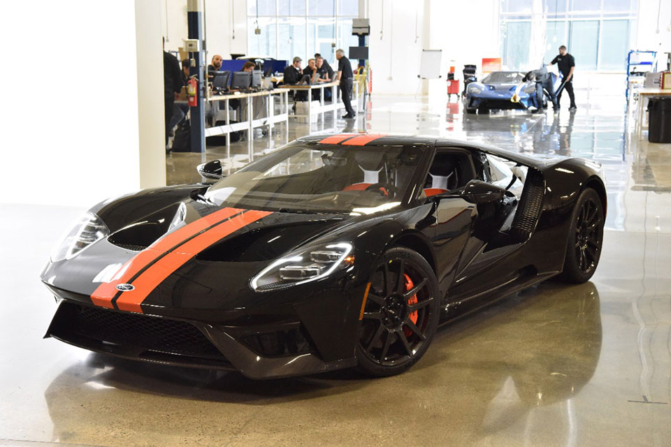 Mine Was Matte Black With Orange Stripes Now It Turns Out Whoever Was The Lucky Sob To Order The First Production Ford Gt Was Off The Assembly Line Almost