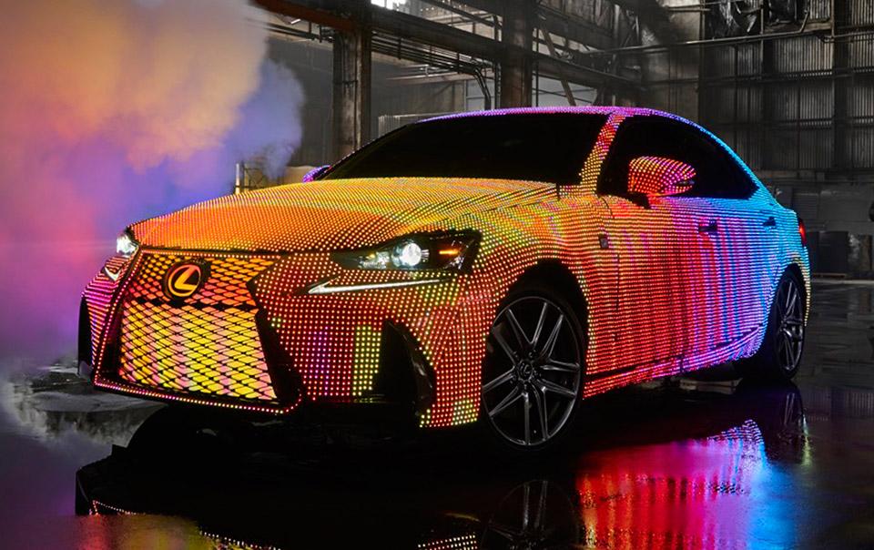 Lexus LIT IS Lights up the Night