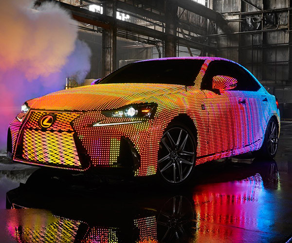 Lexus LIT IS Lights up the Night