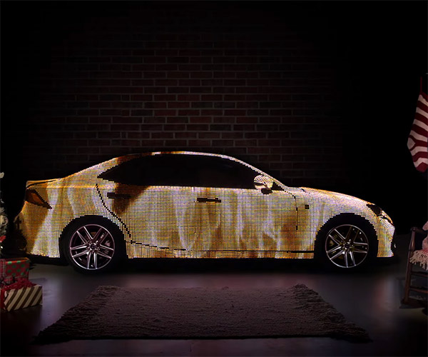 The LED-Covered Lexus LIT IS Yule Log
