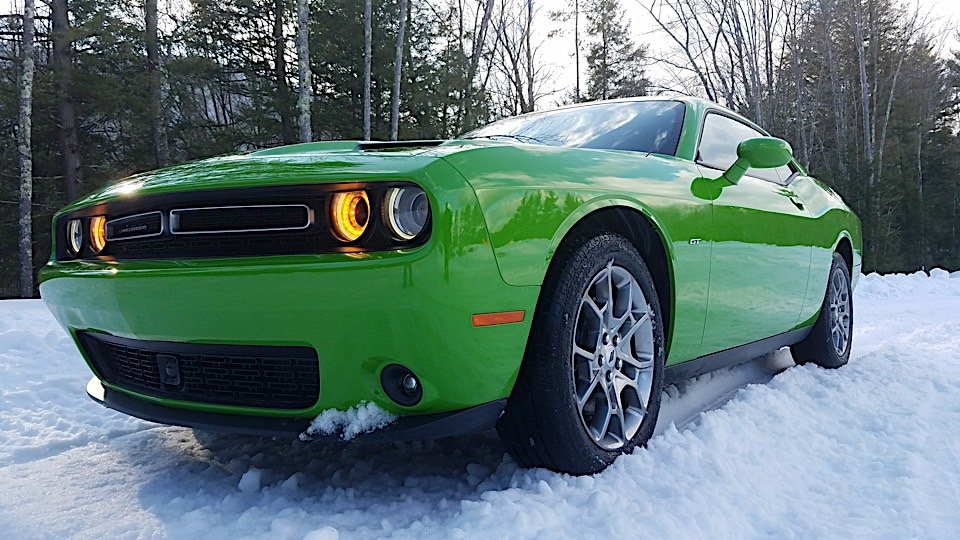dashing through the snow in the awd dodge challenger gt 95 octane. Black Bedroom Furniture Sets. Home Design Ideas