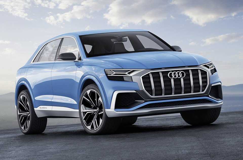 Audi Q8 Concept is Big, Blue and Beautiful