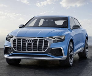 Audi Q8 Concept is Big, Blue and Beautiful