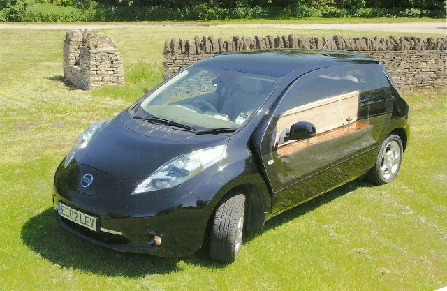 Nissan LEAF Hearse Lets You Stay Green to the Grave