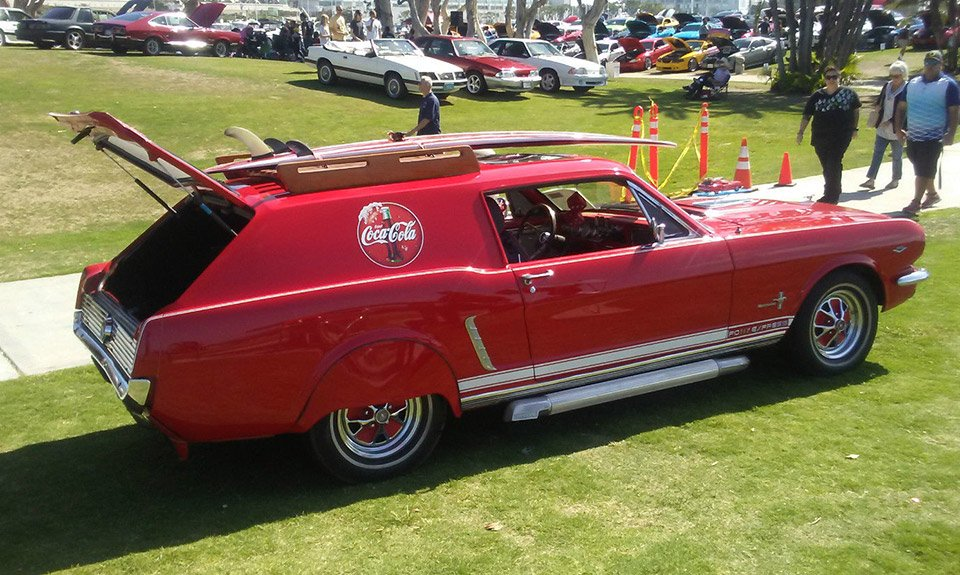 This Unusual Car Dubbed The Pony Express Started Out Life As A Regular 1965 Mustang And Has Custom Fabricated Station Wagon Tail In Place Of