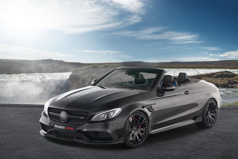 Brabus 650 cabrio amps up mercedes c63 s drop top 95 octane for Mercedes benz drop top