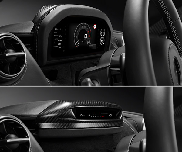 McLaren Super Series Gets Slick Folding Instrument Cluster