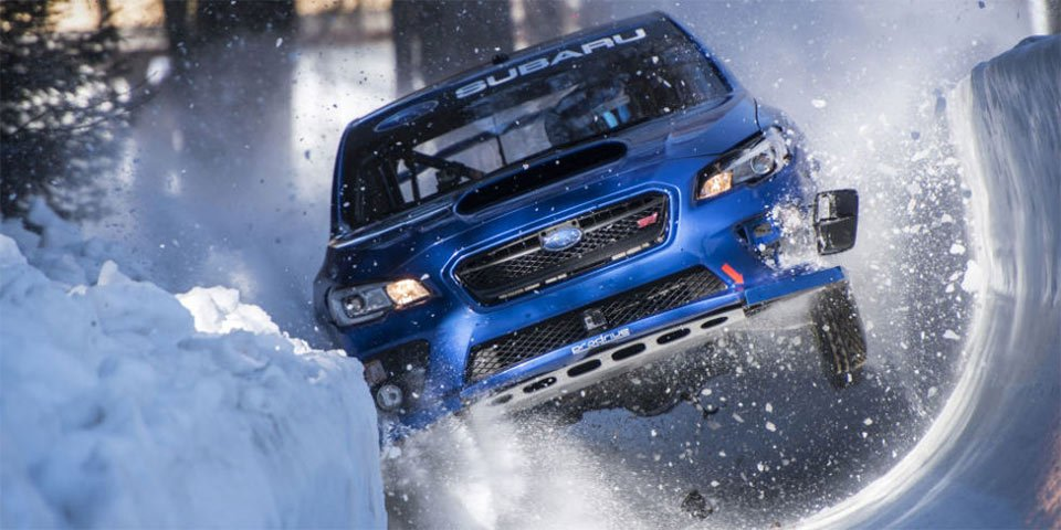 Subaru WRX STI Races Down a Bobsled Run