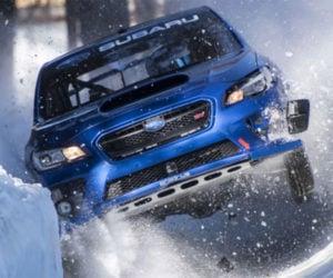 Subaru WRX STI Races Down a Bobsled Run