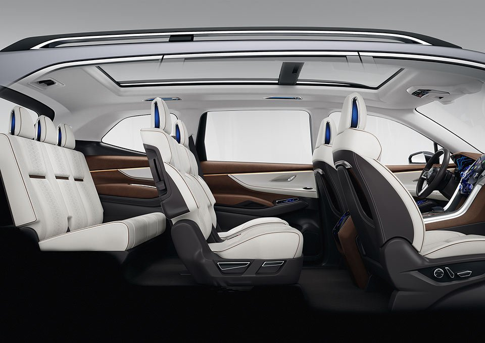 The Ascent Concept Has Captain S Chairs In Second Row And Three Seats Third That Is Arguably A Better Setup As It Allows Easier Access To
