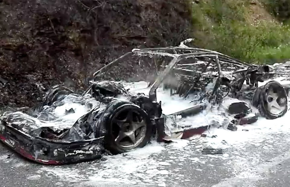 Rare Ferrari F40 Destroyed in Fire, But Lived a Good Life