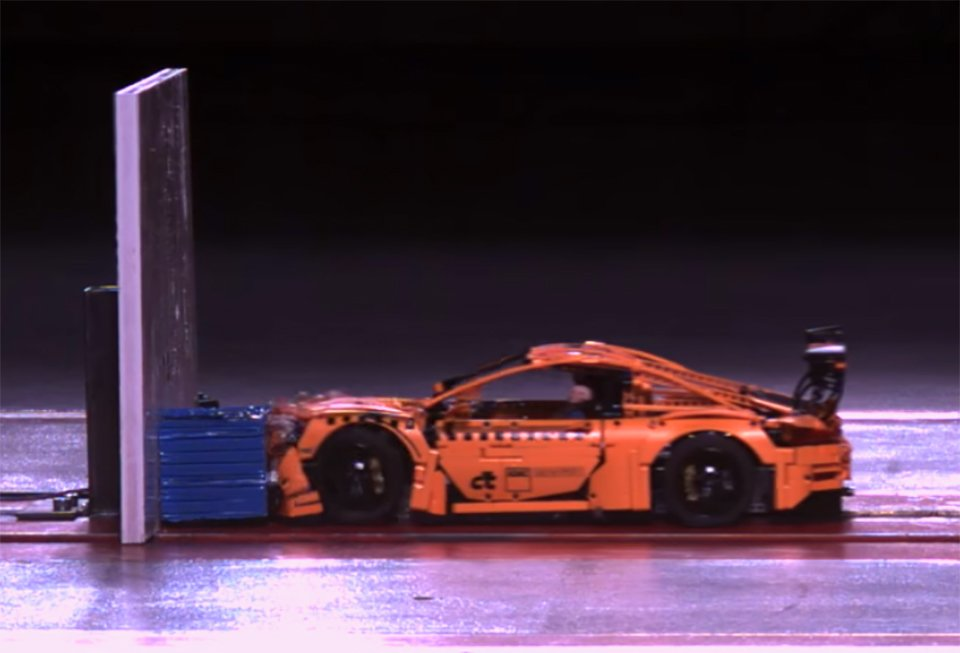 LEGO 911 GT3 Fails Crash Test Spectacularly