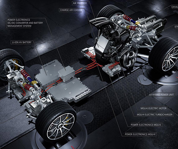 Mercedes-AMG Project One Hypercar Drivetrain Revealed