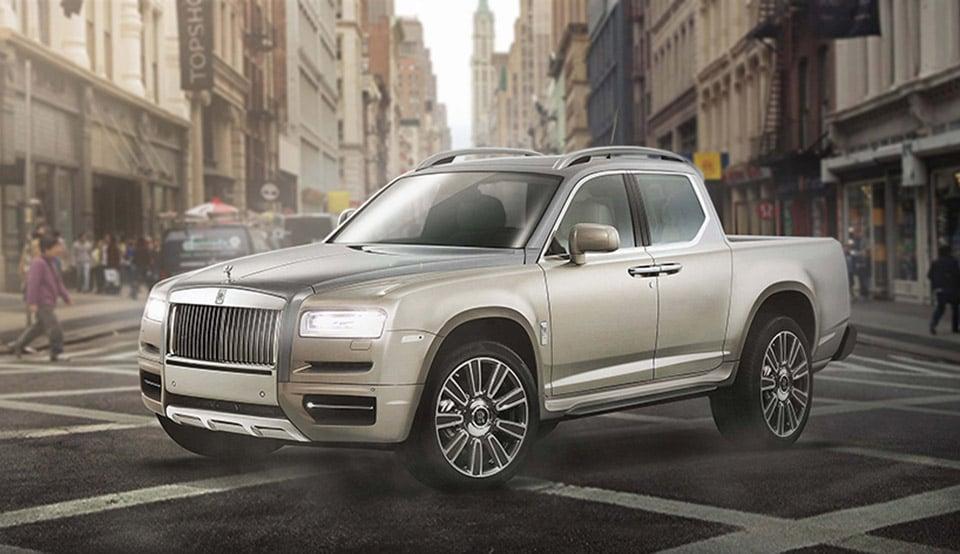 Luxury Cars Imagined as Pickup Trucks: El Luxurio - 95 Octane