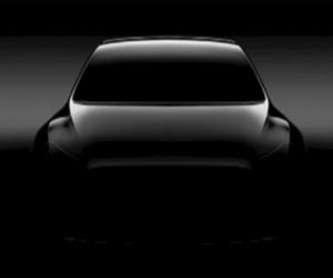 Tesla Model Y SUV Teased at Shareholder Meeting