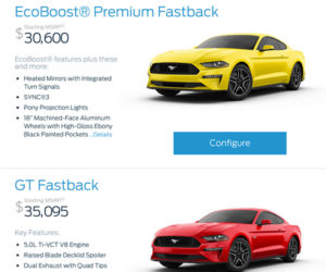 2018 Mustang Configurator and Pricing Goes Live