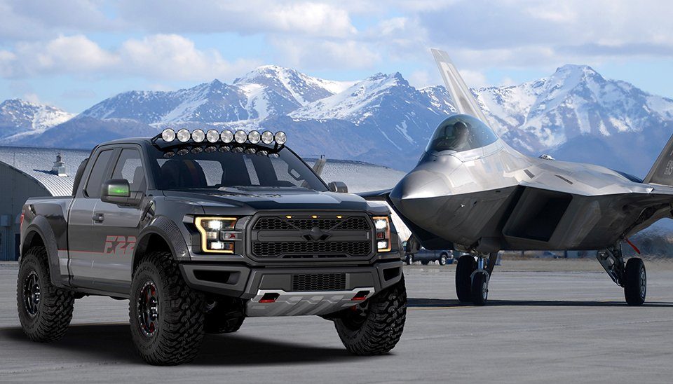 Custom Ford F-22 Raptor F-150 to be Auctioned for Charity