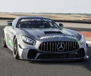 Mercedes-AMG GT4 Racer Has a Knight Rider Steering Wheel
