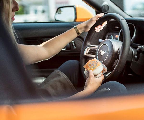 Orange Fury Mustang Inspires Ice Cream Flavor