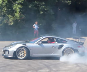 2018 Porsche 911 GT2 RS Makes the Donuts