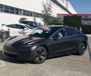 Production Tesla Model 3 Caught on Video in the Wild