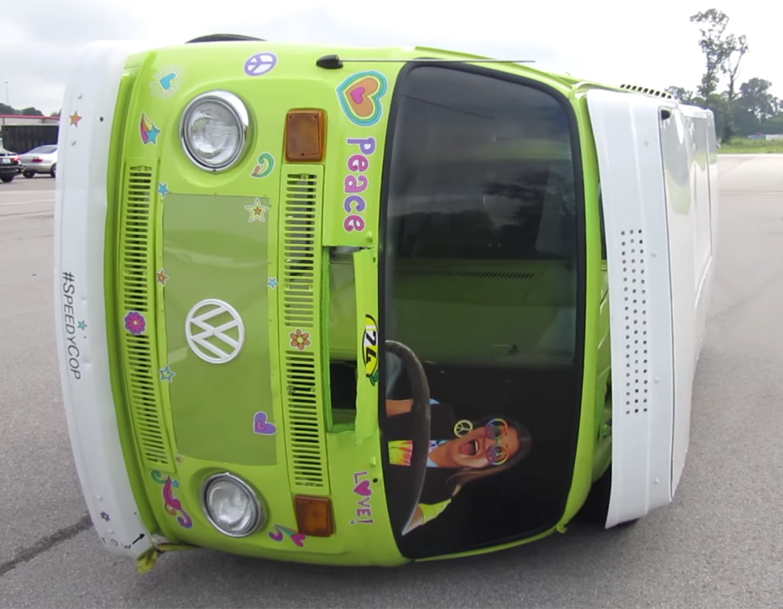 Racing a VW Van on Its Side