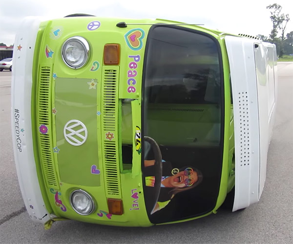 Racing a VW Van on Its Side
