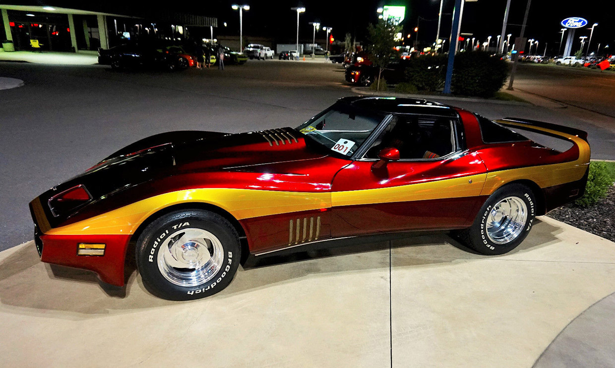 cherry 1980 stingray has just 700 miles since 1982 restomod. Black Bedroom Furniture Sets. Home Design Ideas