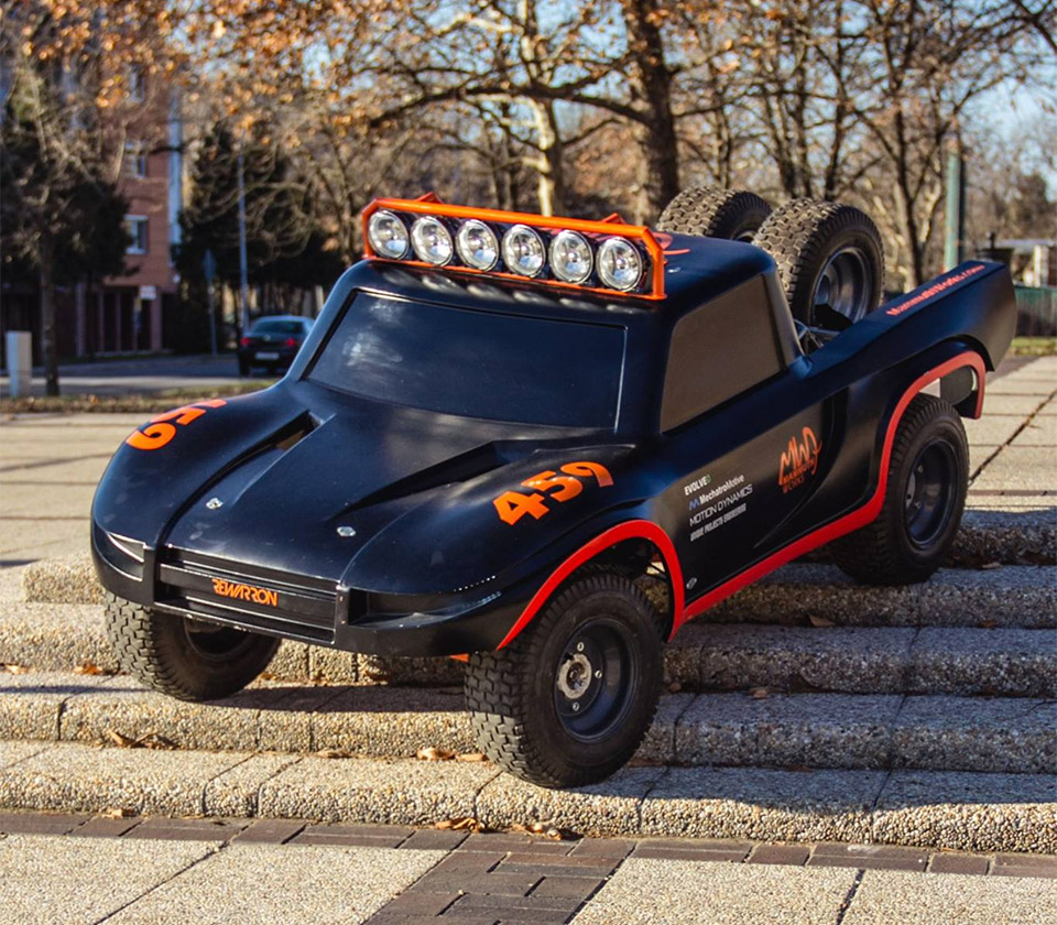 This 1/3rd Scale R/C Truck Is Almost as Big as a Smart Car