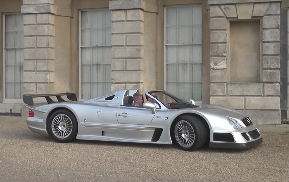 Mercedes-Benz CLK GTR Goes Drifting in the Countryside