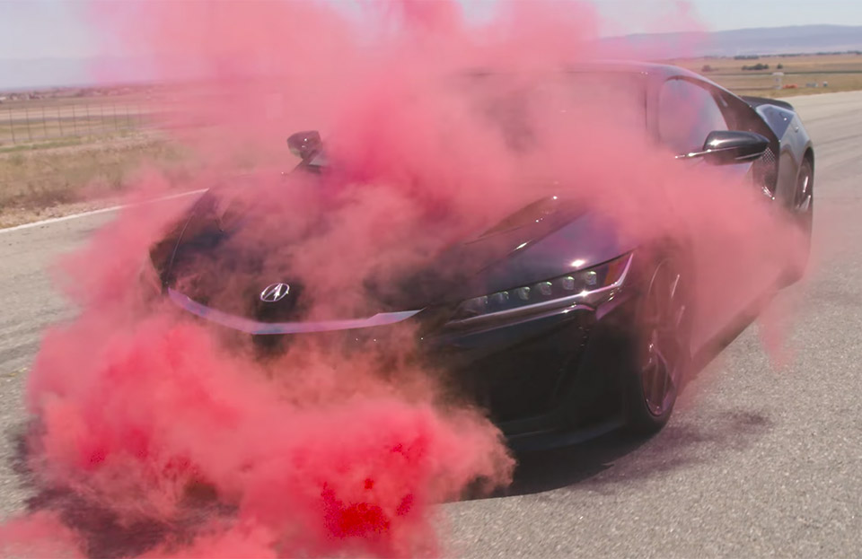 Visualizing the Acura NSX's Aerodynamics with Smoke and Paint