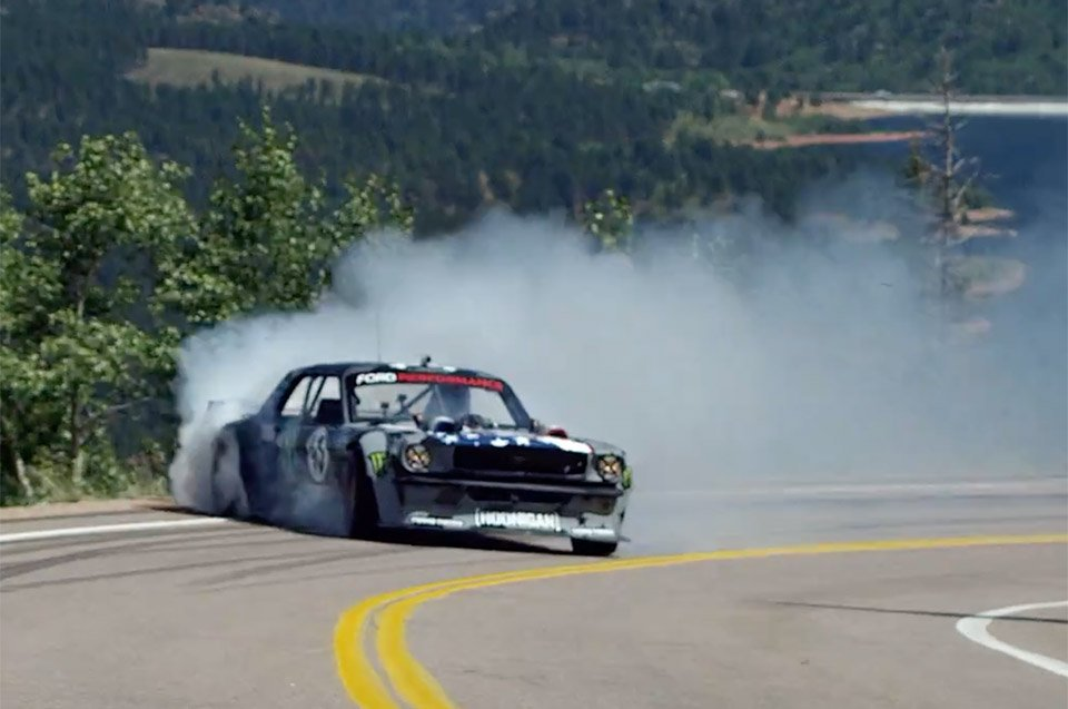 Ken Block Burns Rubber And Tosses Gravel Up Pikes Peak In